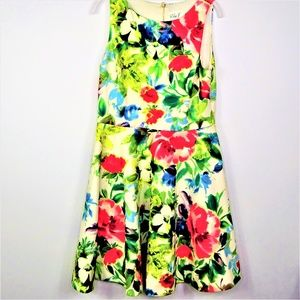 Eliza J. Fit and Flare Dress Sleeveless Floral